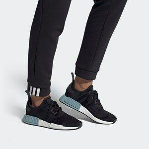 Adidas Black Blue NMD R1 Shoes